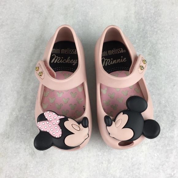 b920580e7868 Mini Melissa Disney Girls Mickey Minnie Jelly Flat.  M 5a9a26529d20f0918ac072bd